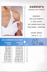 Reggiseno per l'allattamento in puro cotone con apertura GIOS