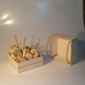 Cassette in legno con corde in juta