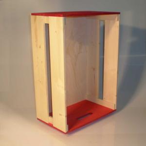 Cassetta in legno di Abete e Betulla grande