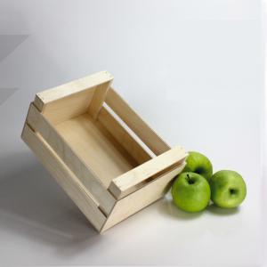 Cassetta piccola in legno a listelli alta