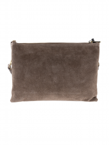 Busta in camoscio M BRC R210-Taupe Taupe