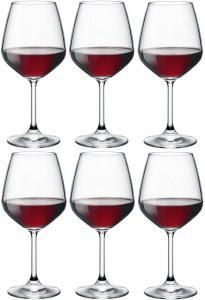 Calice in vetro confezione 6 pezzi Degustazione Vini Rossi Cl 53 Divino