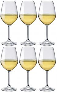 Calice in vetro confezione 6 pezzi Degustazione Vini bianchi Cl 44,5 Divino