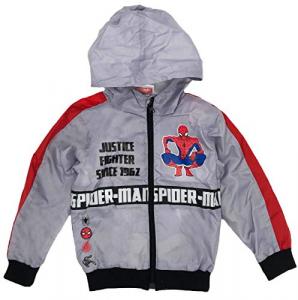 Giacca a Vento Bambino Spiderman 3 4 6 8 Anni