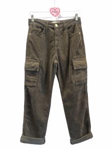 Pantalone cargo velluto