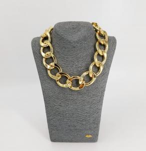 Catena oro anelli grandi Francesca Bianchi Design