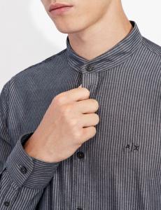 Camicia uomo ARMANI EXCHANGE con collo alla coreana
