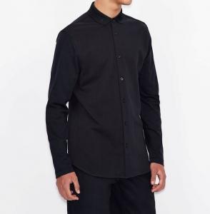 Camicia uomo ARMANI EXCHANGE in piquet di cotone