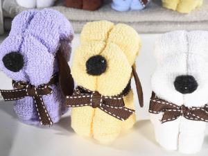 Set 8 sciugamani in cotone a forma di cagnolino