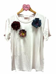 T-shirt spille fiore