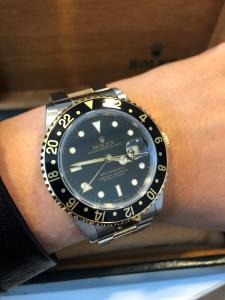Orologio secondo polso Rolex Gmt Master 2