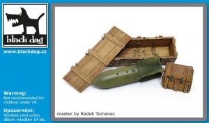 Luftwaffe WWII bomb SC 250 + crate box N°1