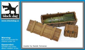Luftwaffe WWII bomb SC 250 + crate box N°2