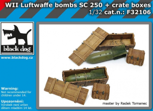 Luftwaffe WWII bombs SC 250 + crate boxes