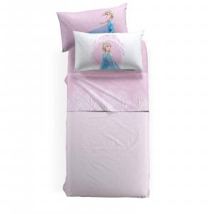 Set lenzuola FROZEN NATURA Caleffi per letto singolo una piazza DISNEY ROSA