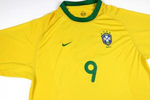 2000-02 Brasile Maglia Home #9 Ronaldo XL (Top)