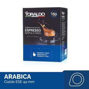 Caffè Toraldo miscela Arabica box 150 cialde ESE carta filtro compostabile