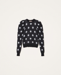SHOPPING ON LINE TWINSET MILANO MAGLIA JACQUARD A POIS NEW COLLECTION WOMEN'S FALL WINTER 2020/2021