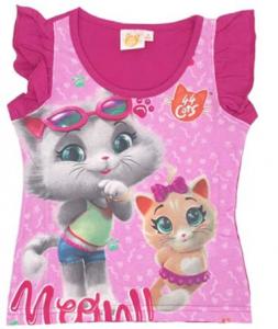 T-shirt 44 gatti bambina misura da 2 a 8 anni