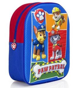 Paw Patrol zaino scuola 3D ragazzo, zainetto Disney bambini