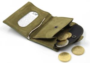 IClutch nubuk classic/coins - verde militare