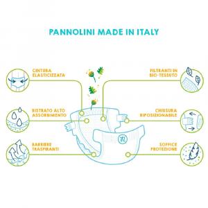 Kit Scorta Pannolini ecologici midi 4-10 kg - 156 pannolini