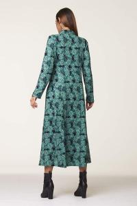 Abito lungo invernale turchese   abbigliamento donna online