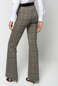 SHOPPING ON LINE PINKO PANTALONI FLARE-FIT DISEGNO GALLES HULKA NEW COLLECTION WOMEN'S FALL WINTER 2020/2021