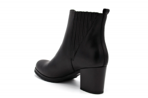 intersección Absolutamente Coca  Geox New Lise Np Abx women's ankle boot in black leather D046ZA   Parisi  Calzature