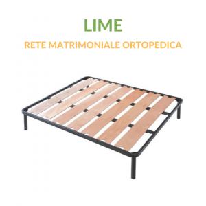 Rete in Ferro a Doghe Larghe Matrimoniale Ortopedica | Lime