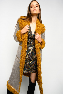 Cappotto reversibile fake shearling Pinko