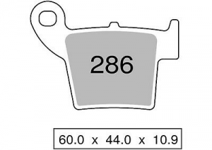 442P28603 COPPIA PASTIGLIE FRENO POSTERIORI NISSIN ST HM-HONDA CR 250