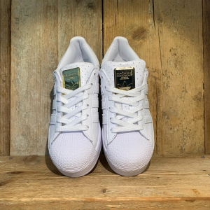 Scarpa Adidas Superstar Bold Woman Bianca Con Dettagli Oro