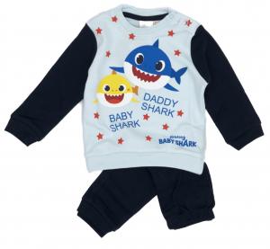 Pigiama Baby Shark Bambino da 12 a 30 Mesi in Caldo Cotone Inverno 2021