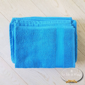 Asciugamani made in Italy tinta Unita Blu elettrico