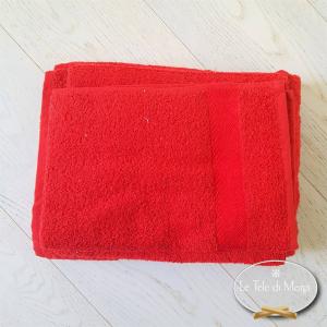 Asciugamani made in Italy tinta Unita Rosso