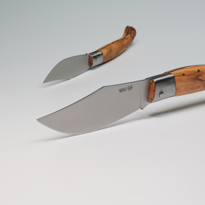 KNIFE ARBURESA MODELLO CACCIA MANICO IN LEGNO DI ULIVO