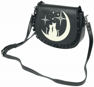 Banned Alternative borsa nera Lunar Sisters due gatti
