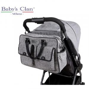 Borsa mamma per passeggino Teti Baby's Clan colore grigio chiaro