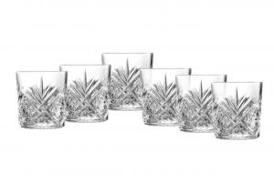 Set di 6 bicchieri acqua o whisky in vetro trasparente 30 cl Broadway