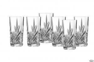 Set di 6 bicchieri long drink in vetro trasparente 28 cl Broadway cm.13,4h diam.6,7