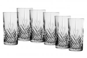 Set di 6 bicchieri long drink in vetro trasparente 45 cl Broadway