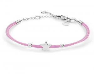 Comete Bracciale Stella, cordino rosa