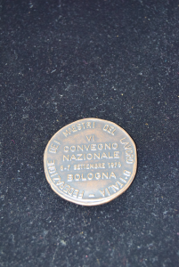 Medaglia Della Federazione Dei Maestri Del Lavoro D'italia Anno 1975