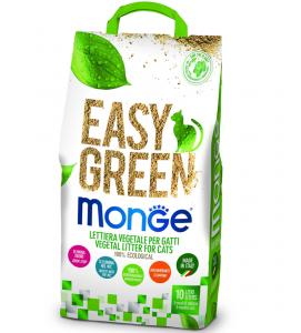 Monge - Easy Green - Lettiera vegetale e agglomerante - 10 lt