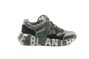 Voile Blanche-Sneakers Donna Club100/Vitello+Nylon+Cordura Lam 0012015541.02.0A01