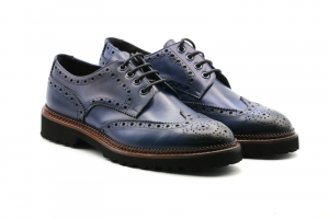 Exton-Calzatura Uomo Oxford Jeans 9050