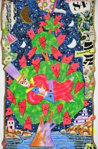 Musante Francesco Serigrafia polimaterica Formato cm 50x17,5