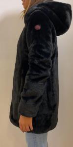 MUSEUM KATIE PL881 Piumino con cappuccio reversibile interno tessuto tecnico impermeabile antivento ed interno ecopelliccia