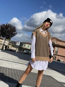 Camicia Oversize popeline unito Vicolo